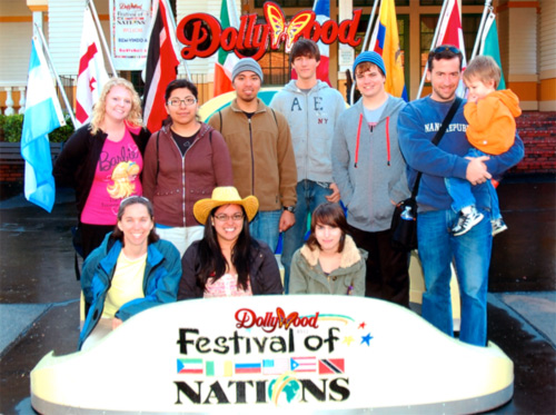 Students at Dollywood's Festival of Nations