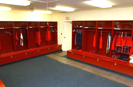 softball locker room