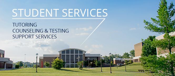 Student Services: Tutoring, Counseling & Testing, Student Success Center, Support Services are located in the Student Services Building on the Morristown Campus