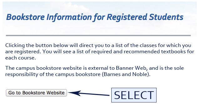 Bookstore student services select go to bookstore website fandeluxe Gallery